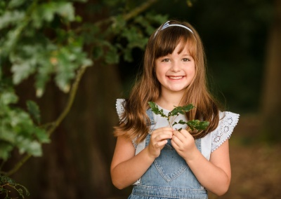 Child portrait of a girl on a photoshoot in Reading, Berkshire