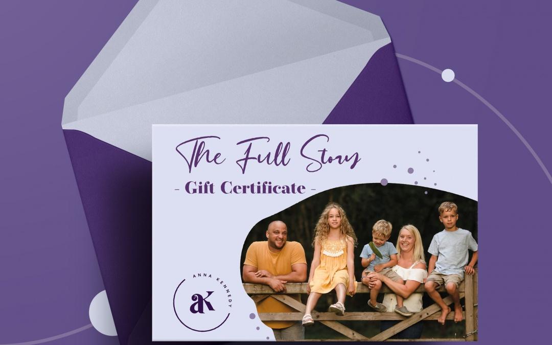 The Full Story Gift Certificate