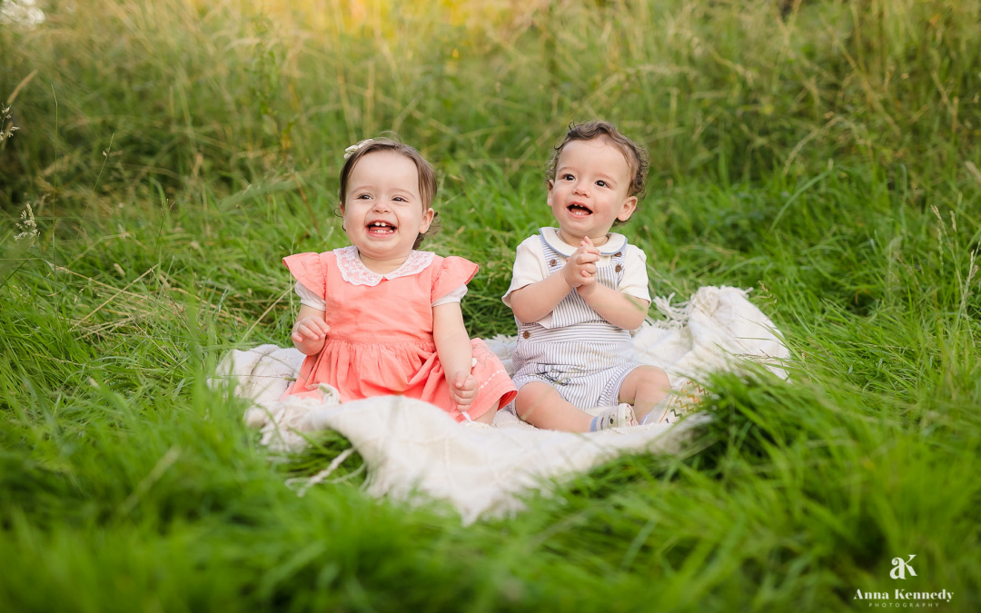 Baby Twins Photo Shoot in Rickmansworth Aquadrome
